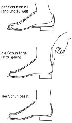 Die Schuhmacher Uelzen - Passform Schuhe - Grafik